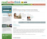 Authentic Persuasive Writing to Promote Summer Reading