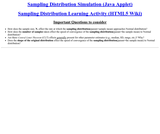 Sampling Distribution Simulation