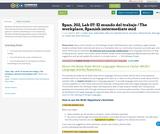 Span. 202, Lab 07: El mundo del trabajo / The workplace, Spanish intermediate mid