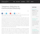 Telephony Skills:How to Communicate Effectively