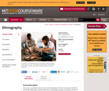 Ethnography, Spring 2003
