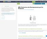 EEE - Évaluation des Enseignements par les Étudiants
