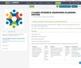 CLAIMS–EVIDENCE–REASONING PLANNINGMATRIX