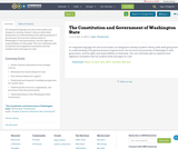 The Constitution and Government of Washington State