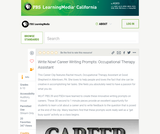 Write Now! Career Writing Prompts: Occupational Therapy Assistant