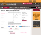 Queues: Theory and Applications, Spring 2006