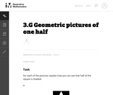 Geometric Pictures of One Half
