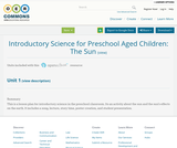 Introductory Science for Preschool Aged Children: The Sun