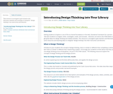 Introducing Design Thinking into Your Library