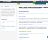 Grade 1: Unit 2- Our Environment: Lesson 3 REMIX
