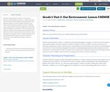 Grade 1: Unit 2- Our Environment: Lesson 3 REMIX