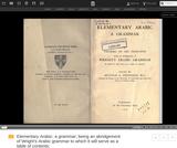 Thornton's Elementary Arabic - A Grammar (PDF)