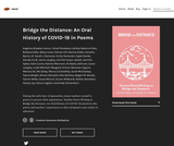 Bridge the Distance: An Oral History of COVID-19 in Poems