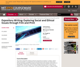Expository Writing: Exploring Social and Ethical Issues through Film and Print, Fall 2002