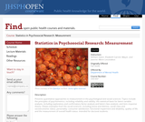 Statistics in Psychosocial Research: Measurement