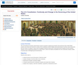 The U.S. Constitution: Continuity and Change in the Governing of the United States