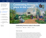 Celebrating America's place in the world