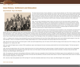 Iowa History: Settlement and Education