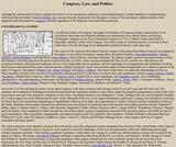 Congress, Law, and Politics