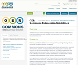 OER Commons Submission Guidelines
