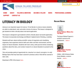 Literacy in Biology