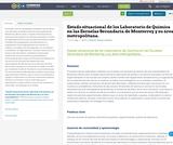 Estado situacional de los Laboratorio de Química en las Escuelas Secundaria de Monterrey y su área metropolitana.