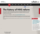Nuffield Trust's NHS history interactive timeline