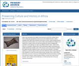Preserving Culture and History in Africa