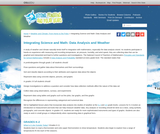 Integrating Science and Math: Weather and Data Analysis