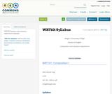 WRT101 Syllabus