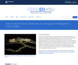 Advanced Analytic Methods in Geospatial Intelligence