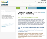 Chemistry Capstone Essay: One World Essay