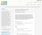 Geometry and Measurement Introductory Activity