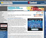 Open Educational Resources (OER) and Libraries