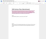 OER Action Planning Worksheet.