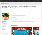 Turbo Math Game: Grades K-4 - Educational App For Kindergarten, First, Second, Third and Fourth Grade Kids