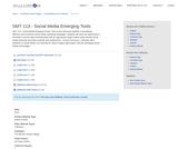 SMT 113 - Social Media Emerging Tools