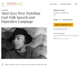 """Their Eyes Were Watching God"": Folk Speech and Figurative Language"