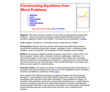 Constructing Equations from Word Problems