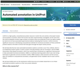 Automated annotation in UniProt