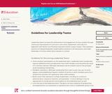 Guidelines for Leadership Teams
