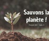 French 202, Lab 3 - Saving the Planet - ONLINE