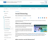 Social Distancing, Quarantine, and Isolation