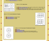 Math Templates for Spinners