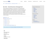BA 260 - Small Business Management
