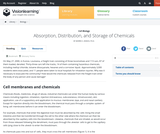 Absorption, Distribution and Storage of Chemicals