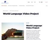 World Language Student Video Project Assignment Ideas