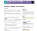 CS Principles 2019-2020 5.10: Building an App: Color Sleuth
