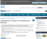 Language as a Medium For Teaching and Learning