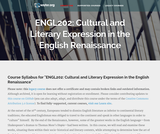 Cultural and Literary Expression in the English Renaissance